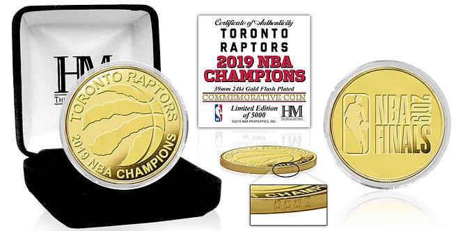 Toronto Raptors 2019 NBA Champions Gold Coin