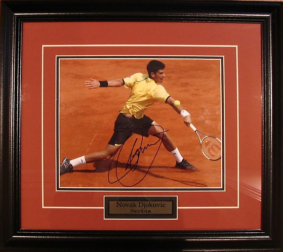 Djokovic, Novak Autographed 8x10 Photo Framed
