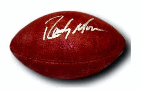 Moss, Randy Autographed NFL Wilson Football