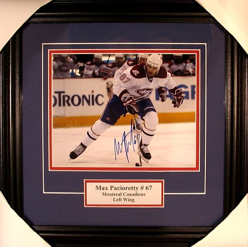 Pacioretty, Max Autographed Canadiens 8x10 Photo Framed