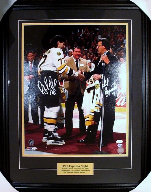 Bourque & Esposito Bruins Dual Autographed 16x20 Framed