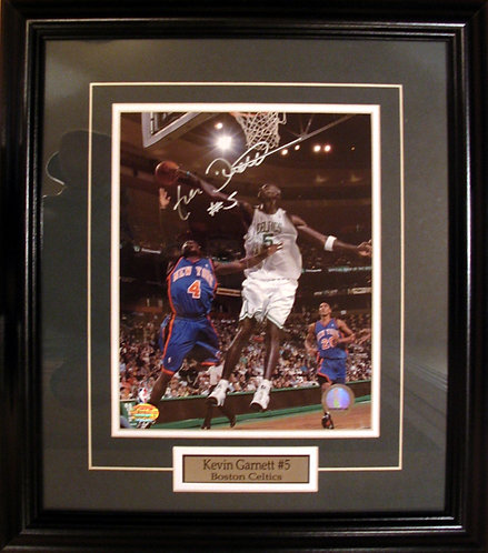 Garnett, Kevin Autographed Celtics 8x10 Photo Framed