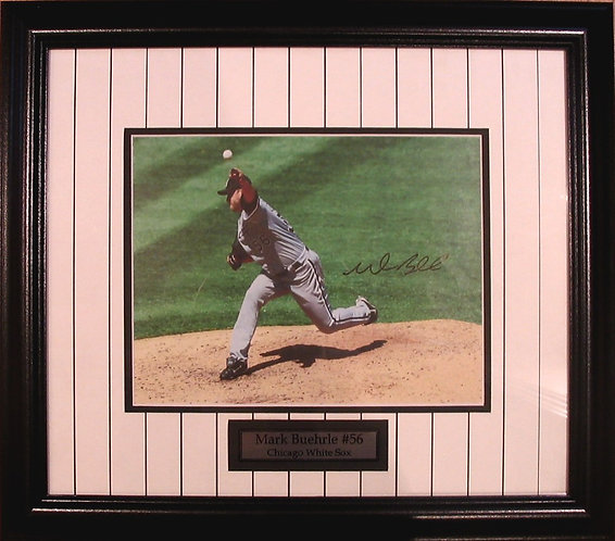 Buehrle, Mark Autographed White Sox 8x10 Photo Framed