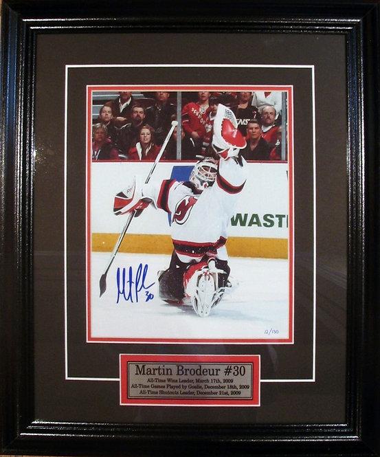 Brodeur, Martin Autographed Devils 8x10 Framed