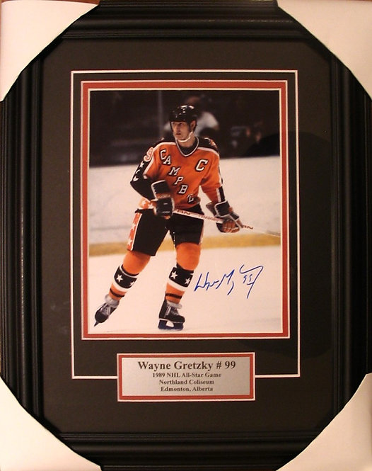 Gretzky, Wayne Autographed NHL All-Star 8x10 Framed