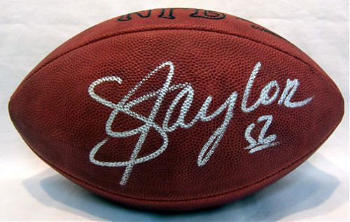 Taylor, Lawrence Autographed NFL Wilson Football