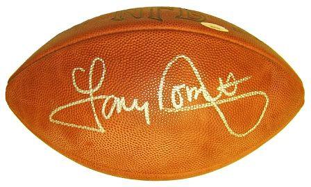Dorsett, Tony Autographed NFL Wilson Football