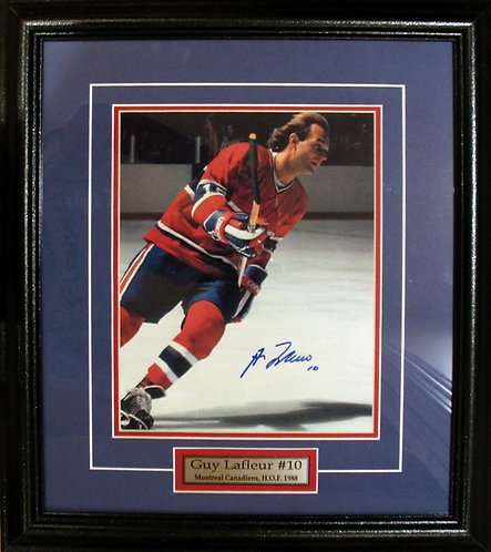 Lafleur, Guy Autographed Canadiens 8x10 Photo Framed