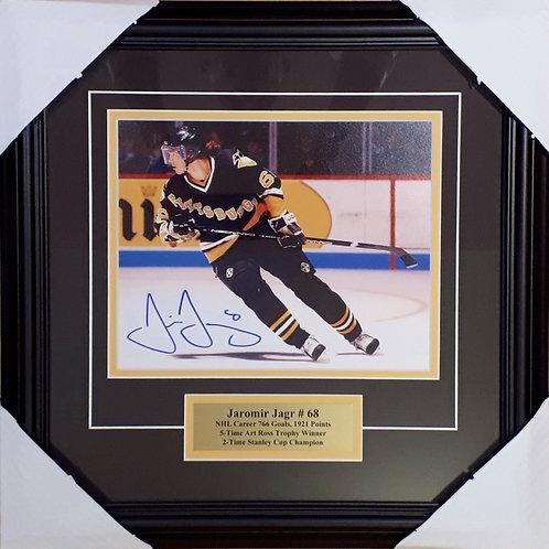 Jagr, Jaromir Autographed Penguins 8x10 Photo Framed