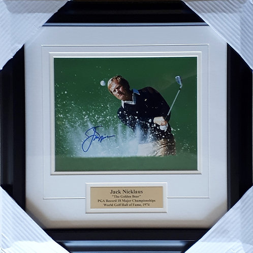 Nicklaus, Jack Autographed 8x10 Photo Framed