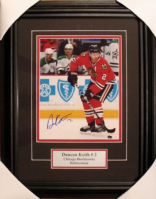 Keith, Duncan Autographed Blackhawks 8x10 Photo Framed
