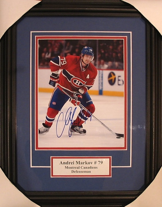 Markov, Andrei Autographed Canadiens 8x10 Photo Framed