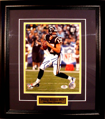 Rivers, Philip Autographed Chargers 8x10 Photo Framed
