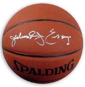 """Erving, """"Dr. J"""" Julius Autographed Spalding Basketball"""