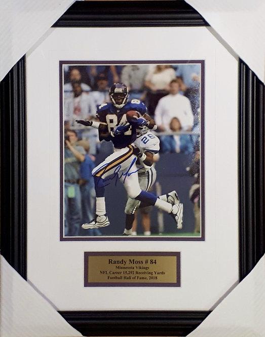 Moss, Randy Autographed Vikings 8x10 Photo Framed