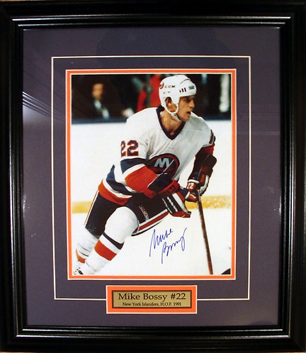 Bossy, Mike Autographed Islanders 8x10 Photo Framed
