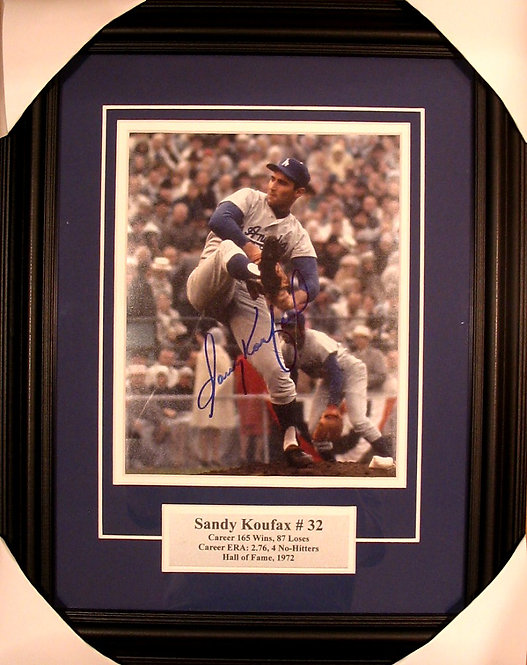 Koufax, Sandy Autographed Dodgers 8x10 Photo Framed