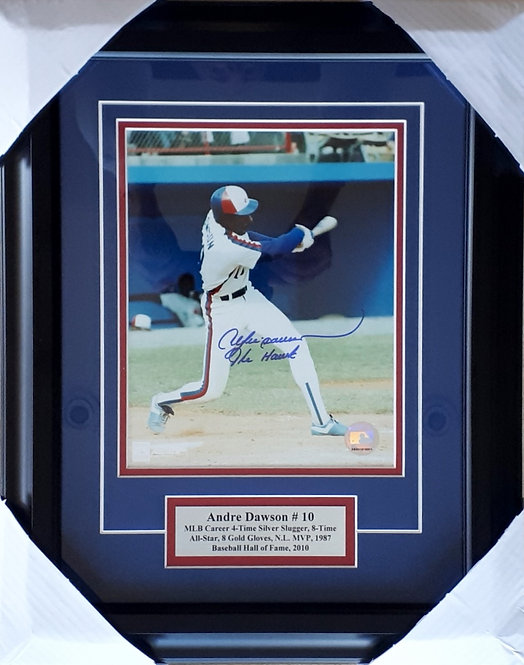 Dawson, Andre Autographed Expos 8x10 Photo Framed
