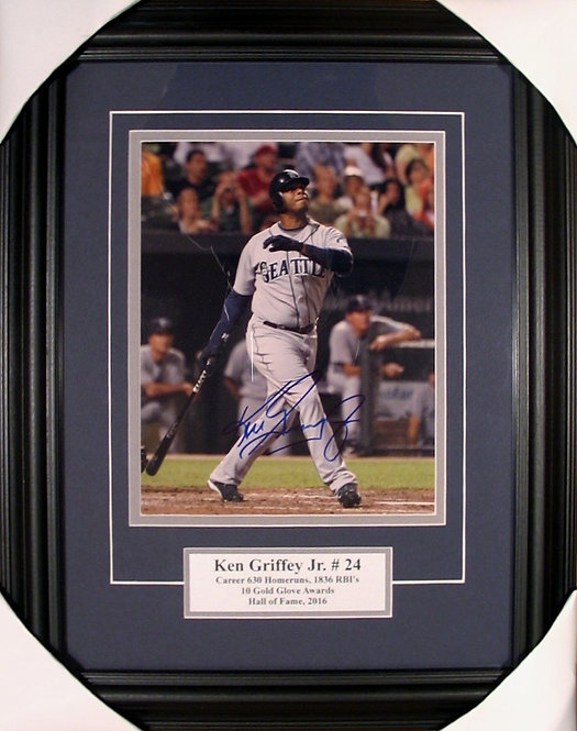 Griffey Jr., Ken Autographed Mariners 8x10 Photo Framed