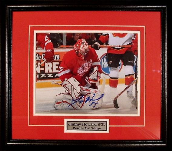 Howard, Jimmy Autographed Red Wings 8x10 Framed