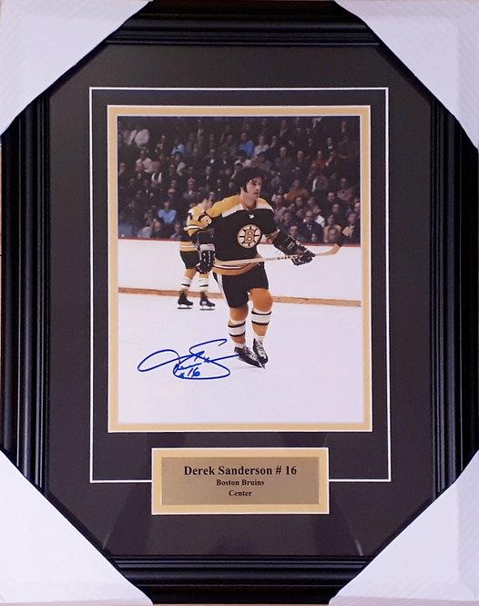 Sanderson, Derek Autographed Bruins 8x10 Photo Framed