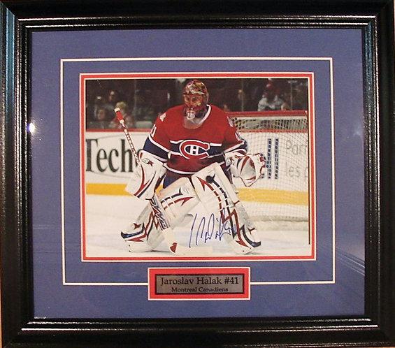 Halak, Jaroslav Autographed Candiens 8x10 Framed