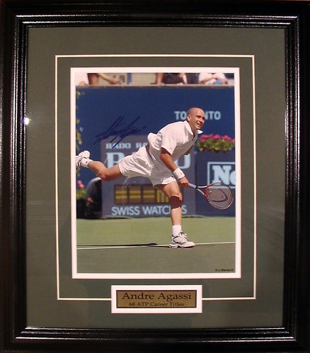 Agassi, Andre Autographed 8x10 Photo Framed