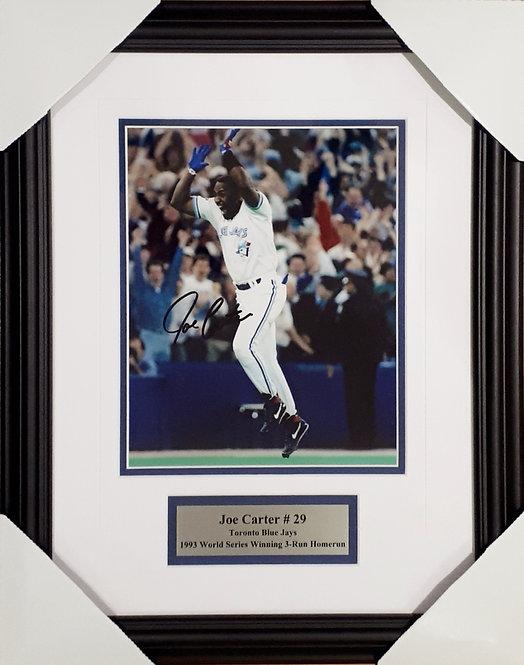 Carter, Joe Autographed Blue Jays 8x10 Photo Framed