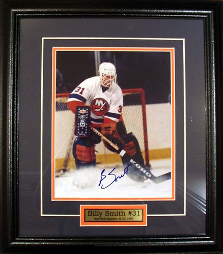 Smith, Billy Autographed Islanders 8x10 Photo Framed