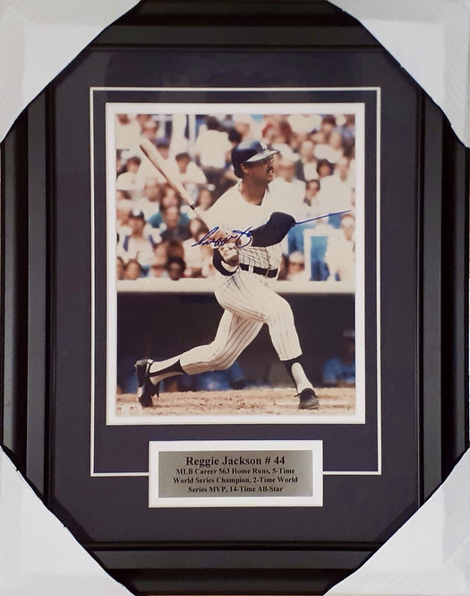 Jackson, Reggie Autographed Yankees 8x10 Photo Framed