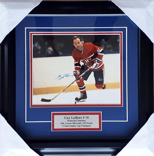 Lafleur, Guy Autographed Canadiens 8x10 Photo Framed