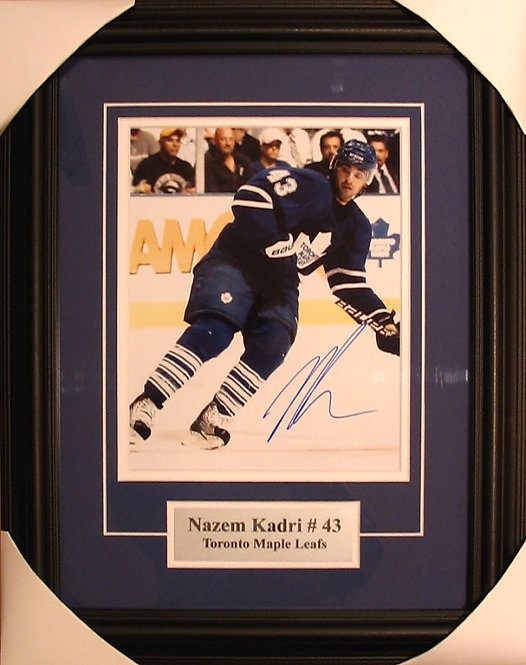 Kadri, Nazem Autographed Maple Leafs 8x10 Photo Framed