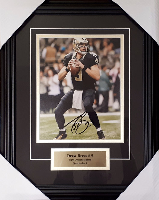 Brees, Drew Autographed Saints 8x10 Photo Framed