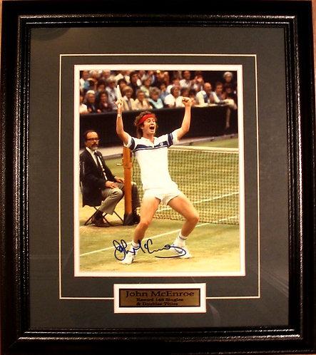 McEnroe, John Autographed 8x10 Photo Framed