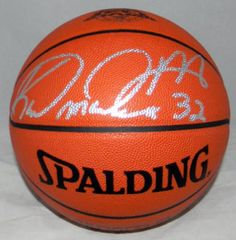 Malone, Karl Autographed Spalding Basketball