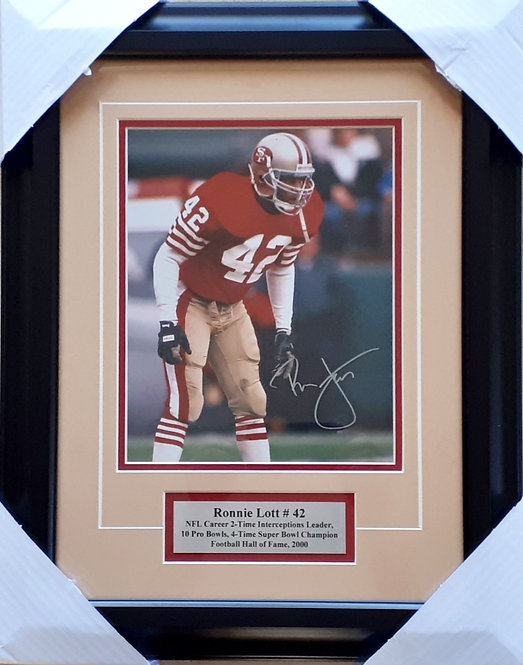 Lott, Ronnie Autographed 49ers 8x10 Photo Framed
