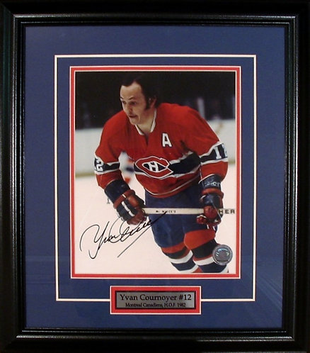Cournoyer, Yvan Autographed Canadiens 8x10 Framed