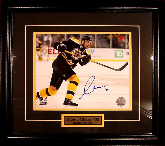 Chara, Zdeno Autographed Bruins 8x10 Framed