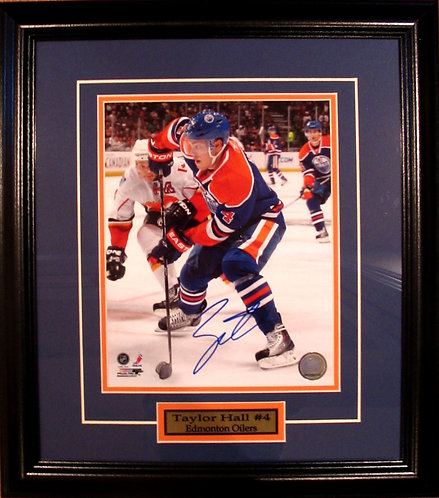 Hall, Taylor Autographed Oilers 8x10 Framed