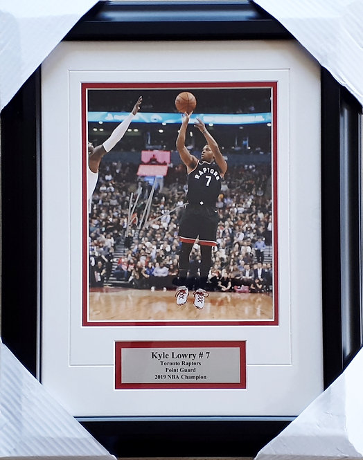 Lowry, Kyle Autographed Raptors 8x10 Photo Framed