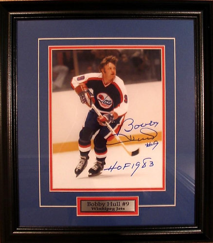 Hull, Bobby Autographed Jets 8x10 Framed