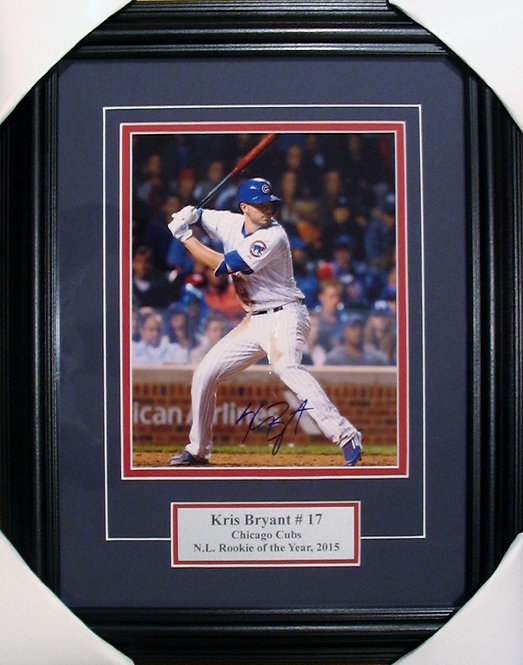 Bryant, Kris Autographed Cubs 8x10 Photo Framed