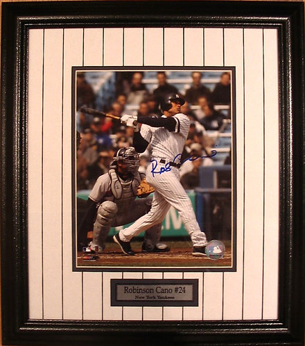 Cano, Robinson Autographed Yankees 8x10 Photo Framed
