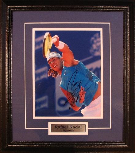 Nadal, Rafael Autographed 8x10 Photo Framed