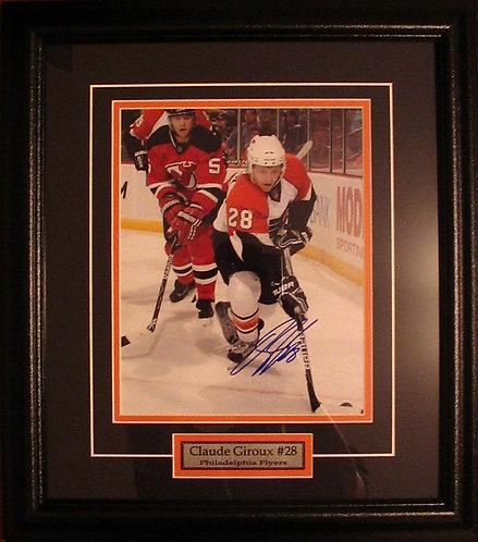 Giroux, Claude Autographed Flyers 8x10 Framed