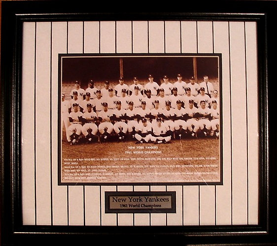New York Yankees 1961 8x10 Photo Framed
