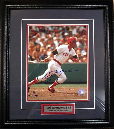 Yastrzemski, Carl Autographed Red Sox 8x10 Photo Framed