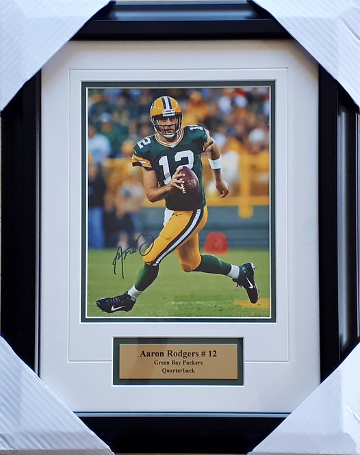 Rodgers, Aaron Autographed Packers 8x10 Photo Framed