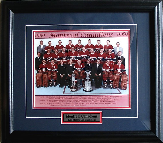 Montreal Canadiens 1960 Team 8x10 Photo Framed