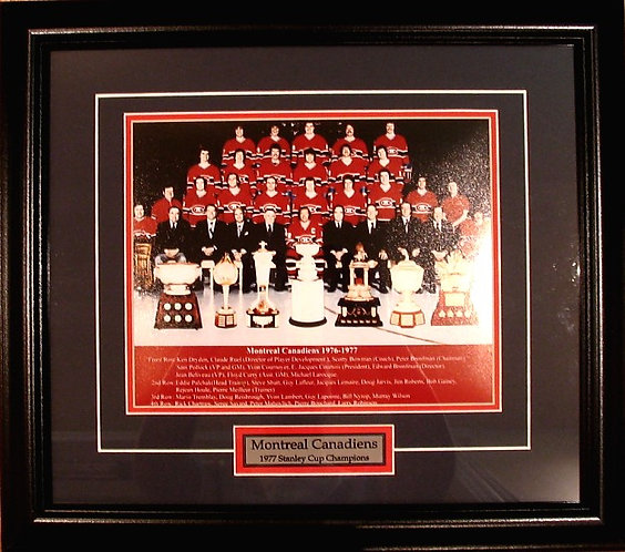 Montreal Canadiens 1977 Team 8x10 Photo Framed